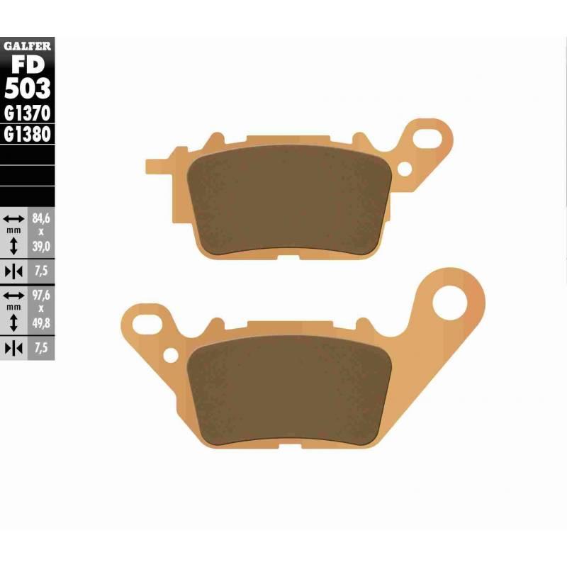 PASTILLAS FRENO GALFER FD503-G1370 MOTO (sinterizado)