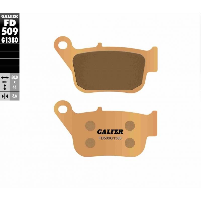 PASTILLAS FRENO GALFER FD509-G1380 MOTO (cerámico/metálico)