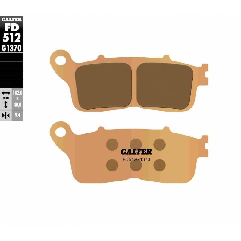 PASTILLAS FRENO GALFER FD512-G1370 MOTO (sinterizado)