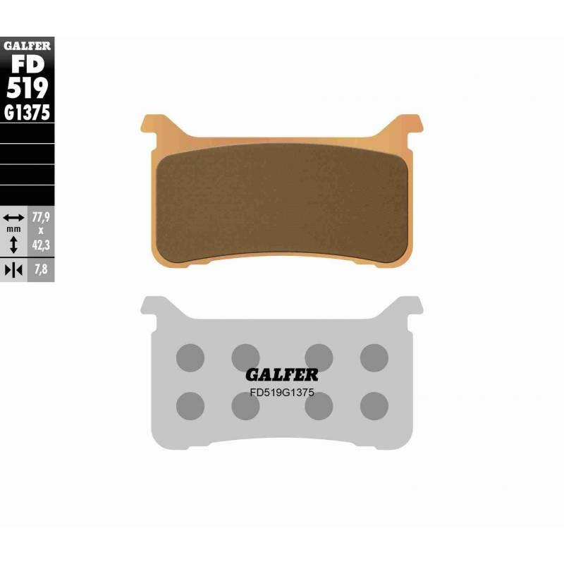 PASTILLAS FRENO GALFER FD519-G1375 OFF ROAD (Quads/ATV)