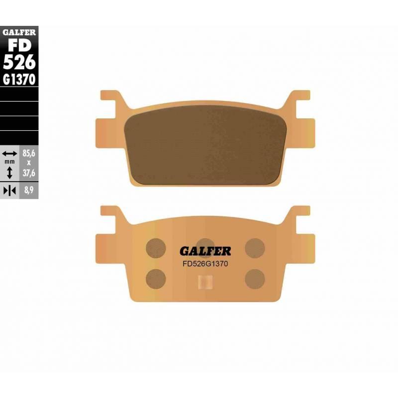 PASTILLAS FRENO GALFER FD526-G1370 MOTO (sinterizado)