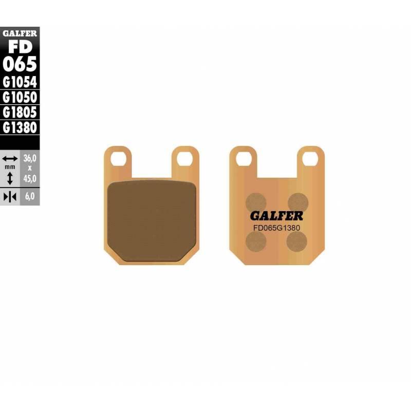 PASTILLAS FRENO GALFER FD065-G1380-83 SCOOTERS (cerámico/metálico)
