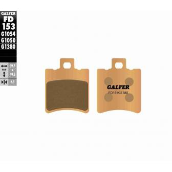 PASTILLAS FRENO GALFER FD153-G1380-83 SCOOTERS (cerámico/metálico)