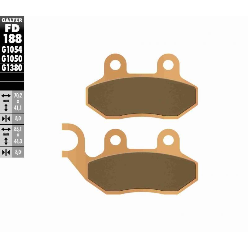 PASTILLAS FRENO GALFER FD188-G1380-83 SCOOTERS (cerámico/metálico)