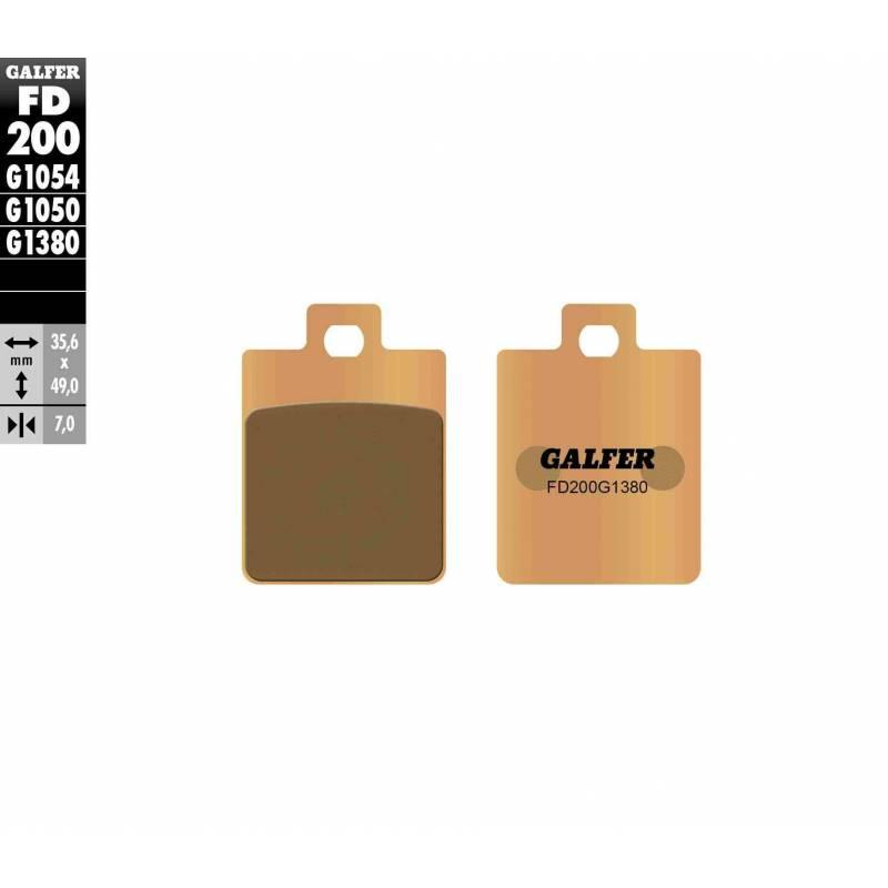 PASTILLAS FRENO GALFER FD200-G1380-83 SCOOTERS (cerámico/metálico)