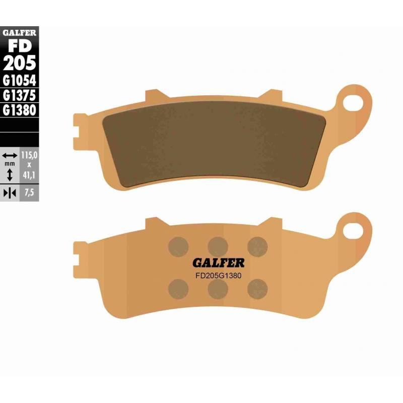 PASTILLAS FRENO GALFER FD205-G1380-83 SCOOTERS (cerámico/metálico)