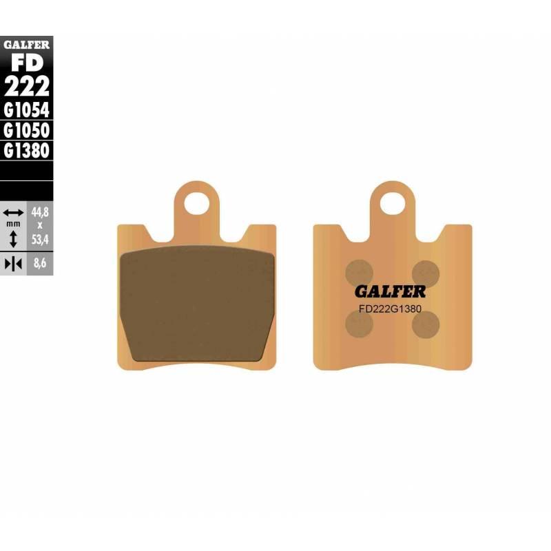 PASTILLAS FRENO GALFER FD222-G1380-83 SCOOTERS (cerámico/metálico)