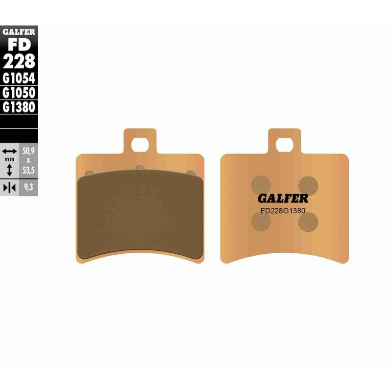 PASTILLAS FRENO GALFER FD228-G1380-83 SCOOTERS (cerámico/metálico)