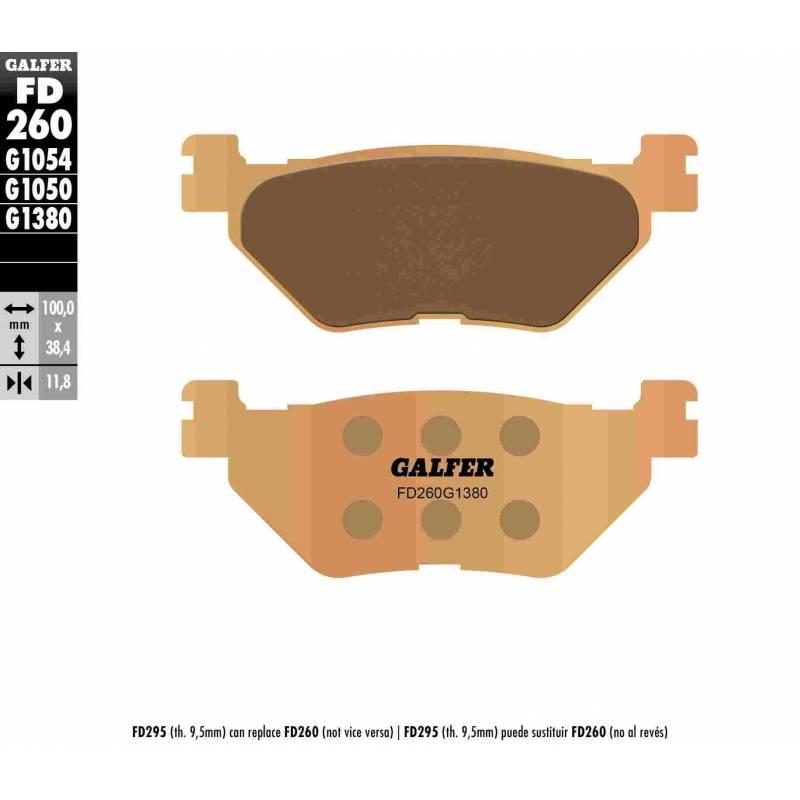 PASTILLAS FRENO GALFER FD260-G1380-83 SCOOTERS (cerámico/metálico)