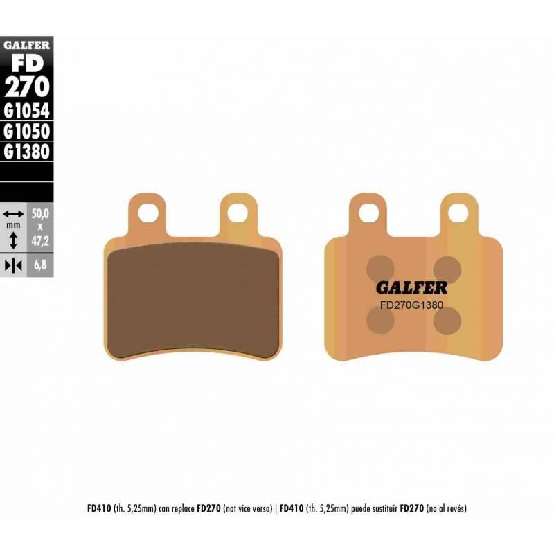 PASTILLAS FRENO GALFER FD270-G1380-83 SCOOTERS (cerámico/metálico)