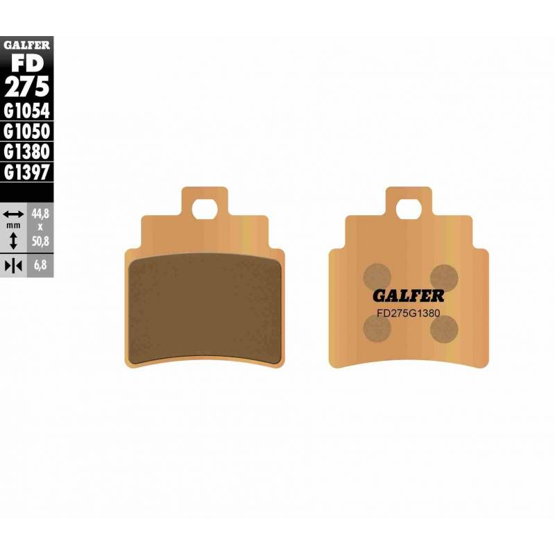PASTILLAS FRENO GALFER FD275-G1380-83 SCOOTERS (cerámico/metálico)