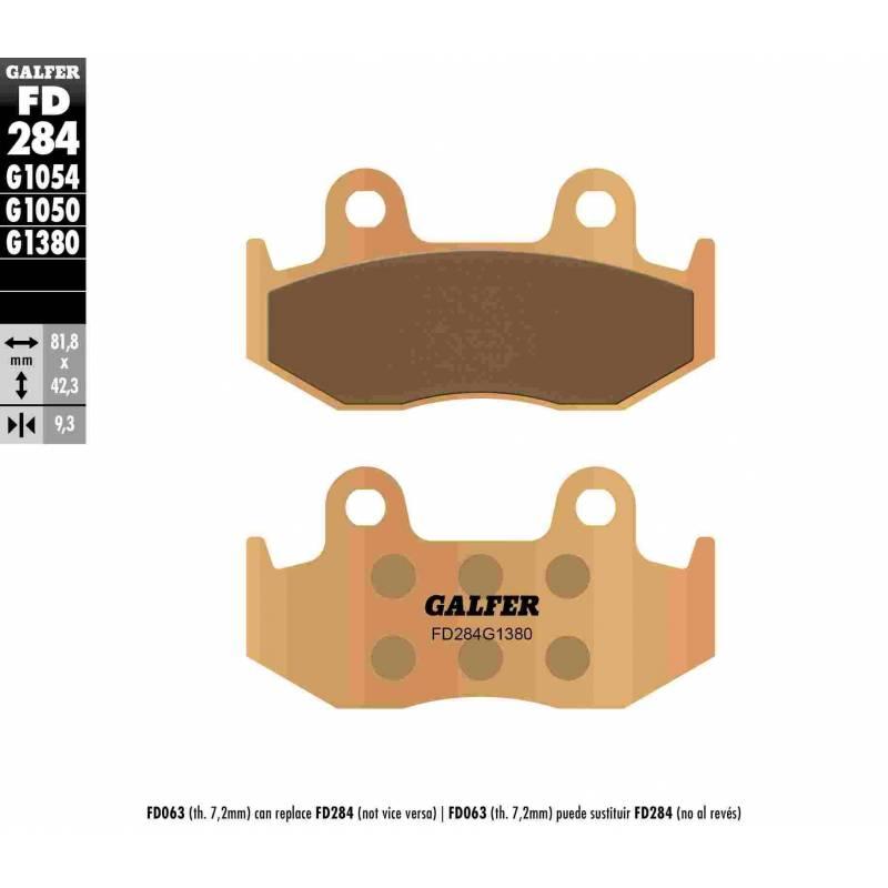 PASTILLAS FRENO GALFER FD284-G1380-83 SCOOTERS (cerámico/metálico)