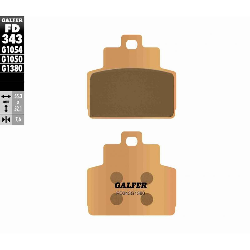 PASTILLAS FRENO GALFER FD343-G1380-83 SCOOTERS (cerámico/metálico)