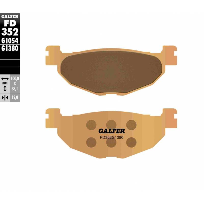PASTILLAS FRENO GALFER FD352-G1380-83 SCOOTERS (cerámico/metálico)