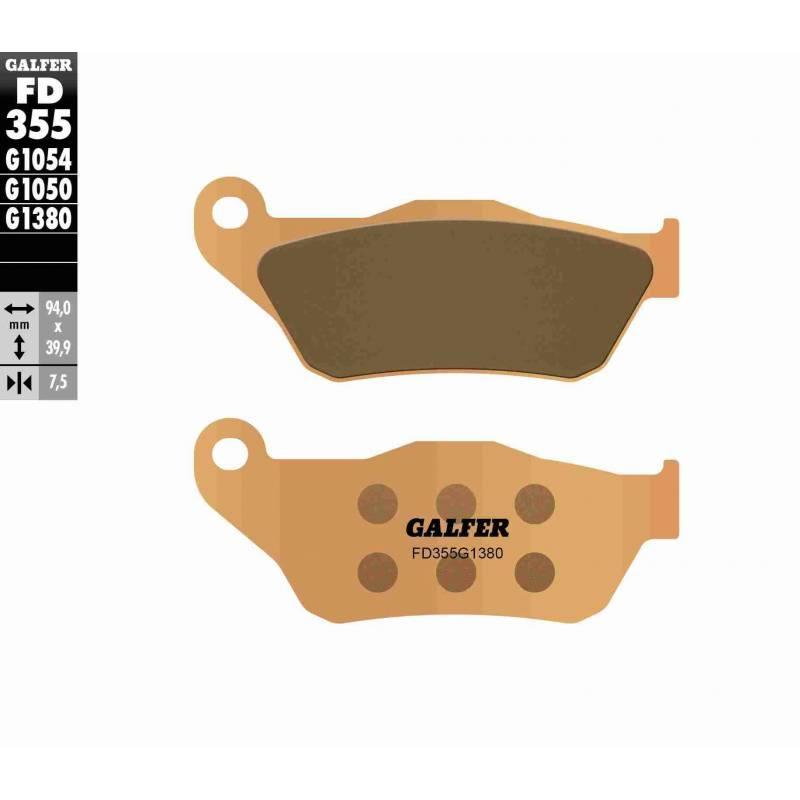 PASTILLAS FRENO GALFER FD355-G1380-83 SCOOTERS (cerámico/metálico)