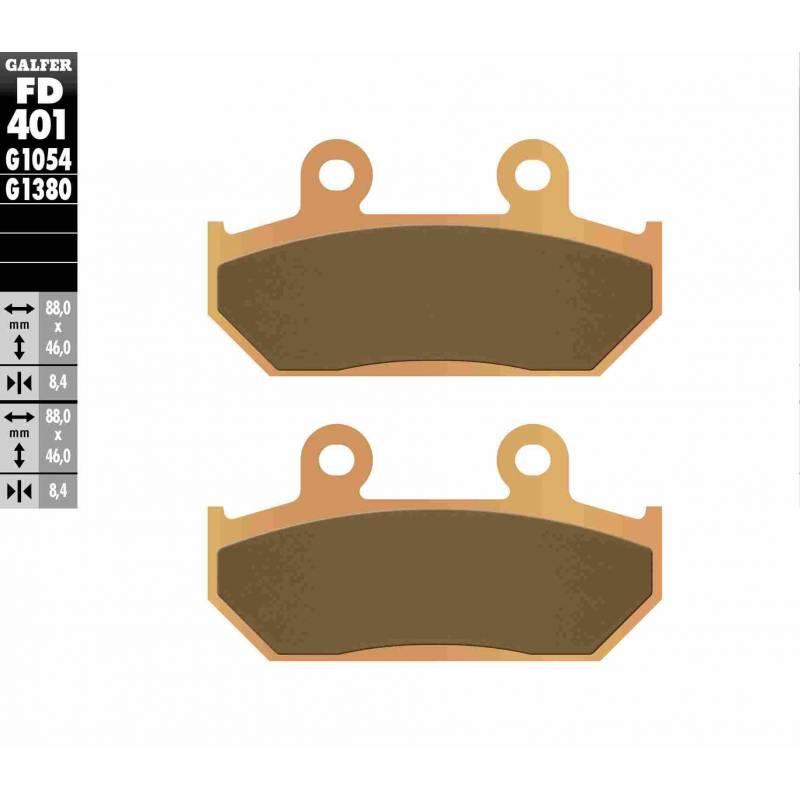 PASTILLAS FRENO GALFER FD401-G1380-83 SCOOTERS (cerámico/metálico)