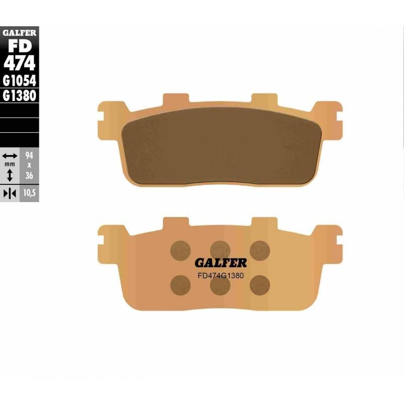 PASTILLAS FRENO GALFER FD474-G1380-83 SCOOTERS (cerámico/metálico)