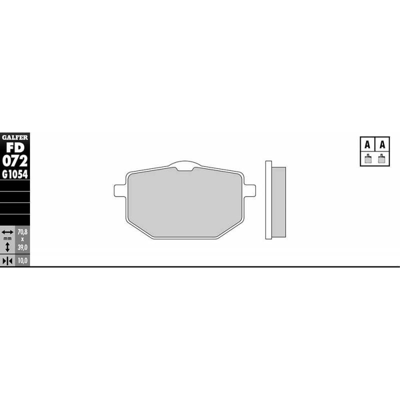 PASTILLAS FRENO GALFER FD072-G1651 LILA (semi-metálicas).