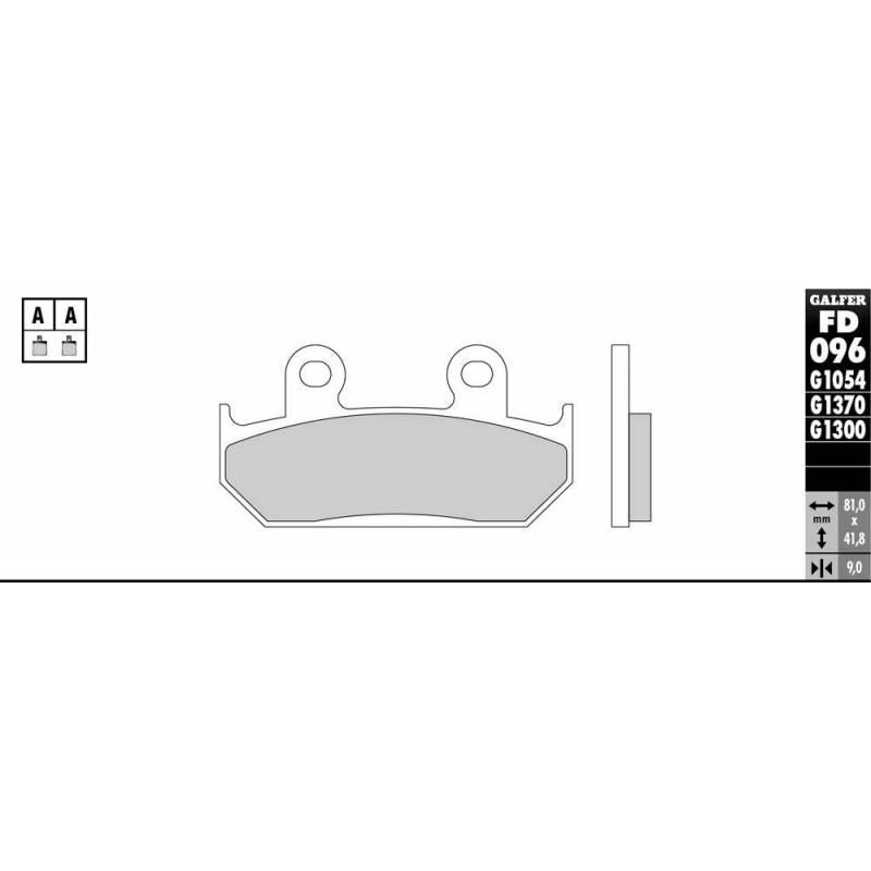 PASTILLAS FRENO GALFER FD096-G1651 LILA (semi-metálicas).