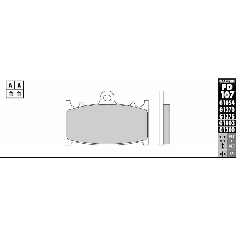 PASTILLAS FRENO GALFER FD107-G1651 LILA (semi-metálicas).