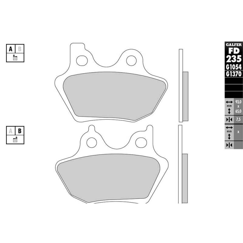 PASTILLAS FRENO GALFER FD235-G1651 LILA (semi-metálicas).