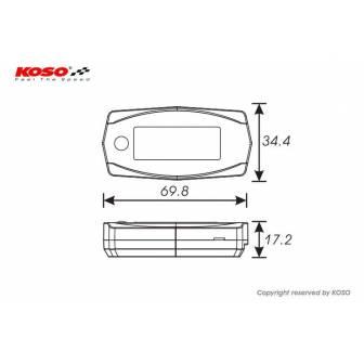 Cuenta RPM y horas KOSO BA033W00