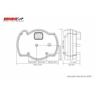 Velocímetro multifuncion KOSO RX2NR+ BA015B15