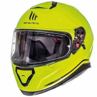 Casco MT Thunder 3 SV Solid Amarillo Brillo MT1055000 Frontal