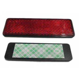 Catadióptrico rojo rectangular adhesivo