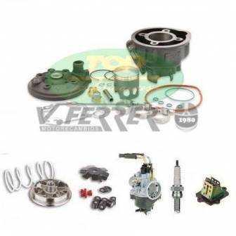 Preparación motor Minarelli Horizontal LC TOP Negro 70cc