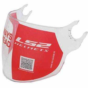 Visor LS2 AIRFLOW L OF562/558 CLEAR LONG 800562VI21