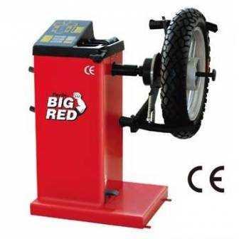 Maquina equilibradora de neumáticos moto
