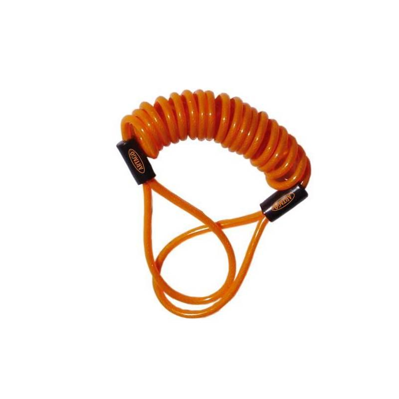 Cable Avisador Antirrobo Disco Moto Color Naranja Artago