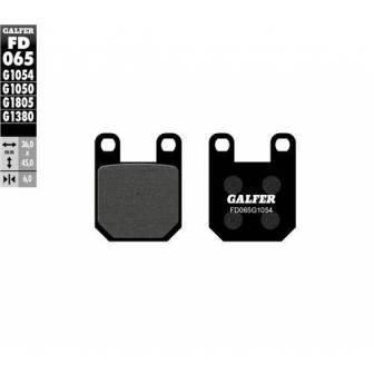 PASTILLAS FRENO GALFER FD065-G1054 (semi-metálicas)