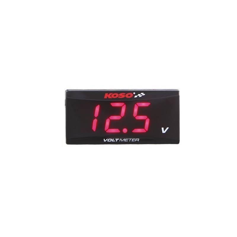 Reloj voltímetro KOSO Rojo BA024R00
