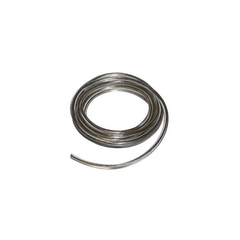 Bobina 5 metros cable bujía/bobina (7mm) transparente