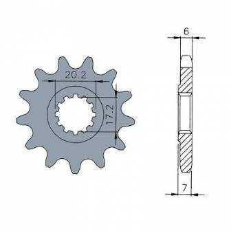 Piñon de ATAQUE para motor MINARELLI AM6