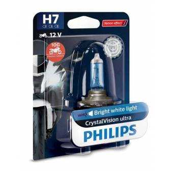 LÁMPARA PHILIPS H-7 12V 55W CRYSTALVISION ULTRA 12972CVUBW