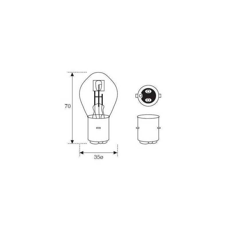 Lámpara Moto Amolux 12v 35/35w Bosch Ba20d 399