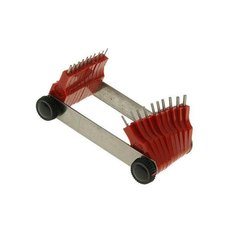 Juego galgas de Ø 0,45 - 1,5 mm