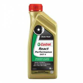 Liquido de freno Castrol moto DOT 4 react performance 1L