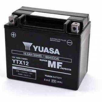 BATERIA YUASA YTX12-WC (YTX12-BS-ACTIVADA) 12V 10Ah