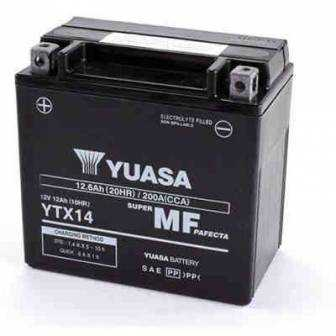 BATERIA YUASA YTX14-WC (YTX14-BS ACTIVADA) 12V 12Ah