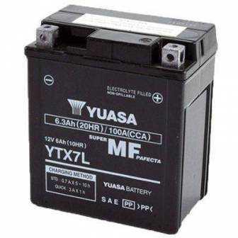 BATERIA YUASA YTX7L-WC (YTX7L-BS-ACTIVADA) 12V 6Ah
