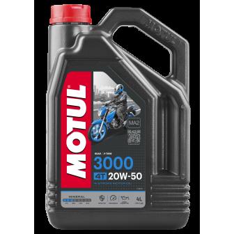 Aceite MOTUL moto 3000 4T MOTO 20W50 4 LITROS