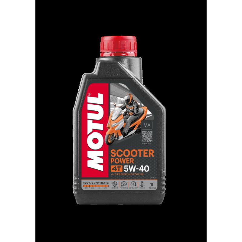 Aceite MOTUL moto SCOOTER 4T 5W40 1 LITRO