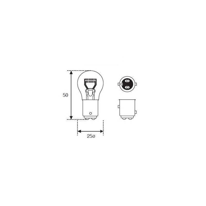 Lámpara Moto Amolux 12v 21/5w Stop Bay15d 91
