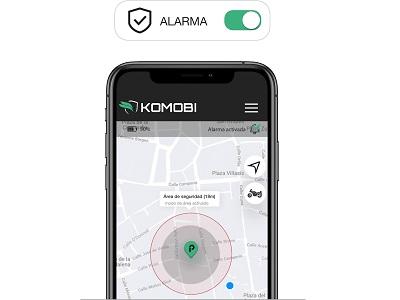 Alarma Komobi posicionamiento GPS
