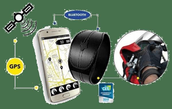 Conexión GPS al móvil de la pulsera Woolf