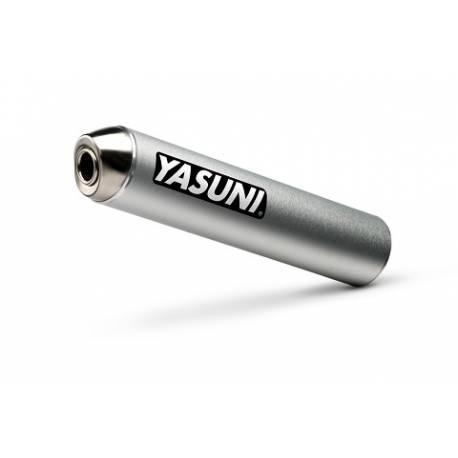 Silencioso de un escape Yasuni acabado en aluminio color plata